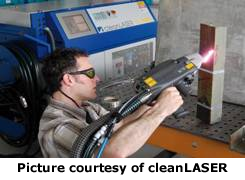 Picture courtesy of cleanLASER